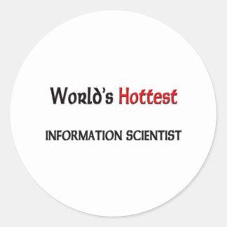 Worlds Hottest Information Scientist Stickers