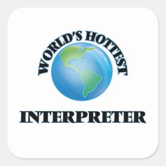 World's Hottest Interpreter Square Sticker