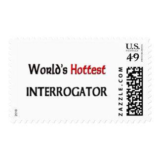 Worlds Hottest Interrogator Postage Stamps