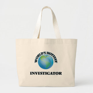 World's Hottest Investigator Canvas Bags