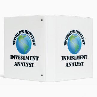 World's Hottest Investment Analyst 3 Ring Binder