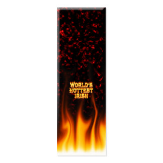 World's Hottest Irish fire and flames red marble. Business Cards