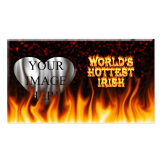 World's Hottest Irish fire and flames red marble. Business Card