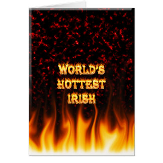 World's Hottest Irish fire and flames red marble Stationery Note Card