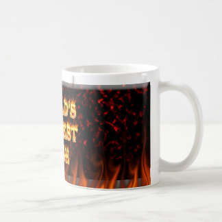 World's Hottest Irish fire and flames red marble Classic White Coffee Mug