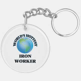 World's Hottest Iron Worker Acrylic Key Chains