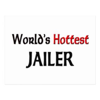 Worlds Hottest Jailer Postcard