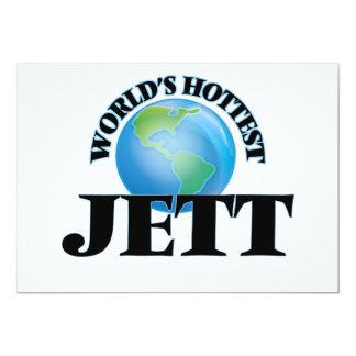 World's Hottest Jett 5x7 Paper Invitation Card