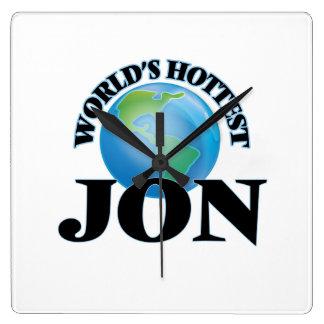 World's Hottest Jon Square Wall Clocks