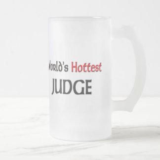 Worlds Hottest Judge Frosted Glass Beer Mug