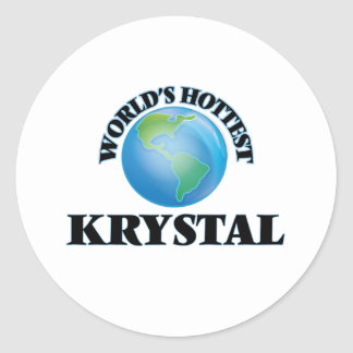 World's Hottest Krystal Classic Round Sticker