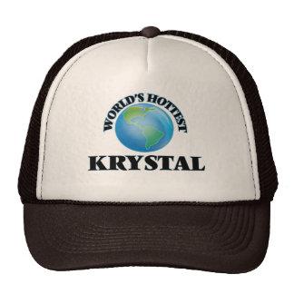 World's Hottest Krystal Mesh Hat
