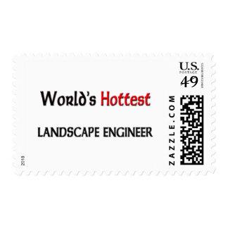 Worlds Hottest Landscape Engineer Postage Stamp