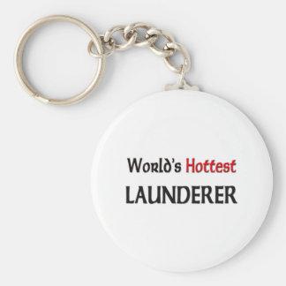 Worlds Hottest Launderer Basic Round Button Keychain