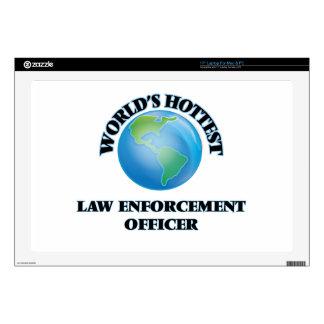 "World's Hottest Law Enforcement Officer 17"" Laptop Decal"