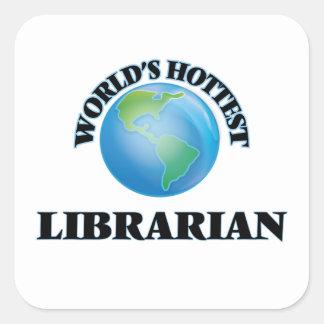 World's Hottest Librarian Square Sticker