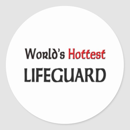 Worlds Hottest Lifeguard Stickers