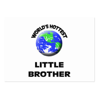 World's Hottest Little Brother Large Business Cards (Pack Of 100)