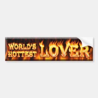 worlds hottest lover bumper sticker