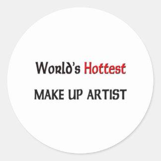 Worlds Hottest Make Up Artist Classic Round Sticker