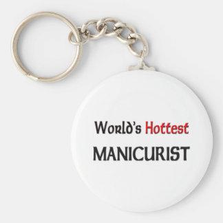 Worlds Hottest Manicurist Keychain