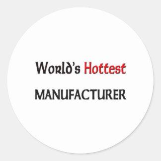 Worlds Hottest Manufacturer Classic Round Sticker