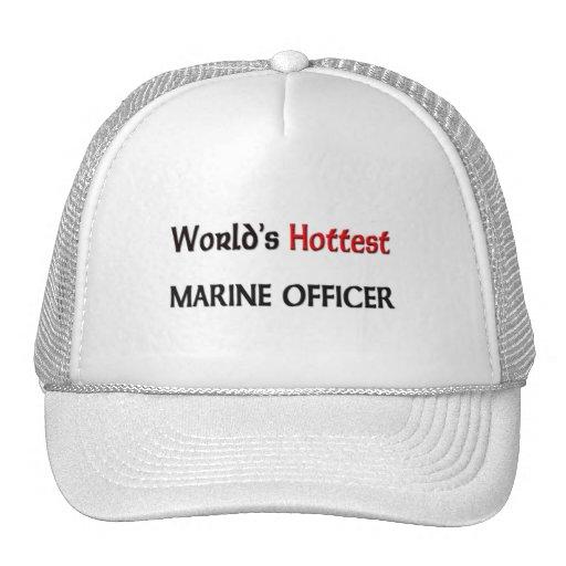 Worlds Hottest Marine Officer Trucker Hat