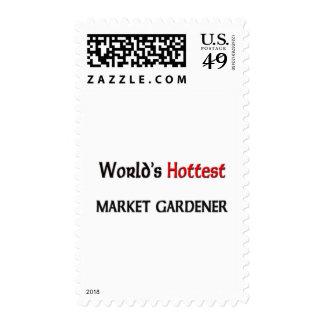 Worlds Hottest Market Gardener Postage Stamp