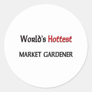 Worlds Hottest Market Gardener Stickers