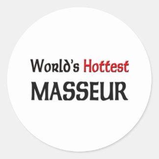 Worlds Hottest Masseur Classic Round Sticker