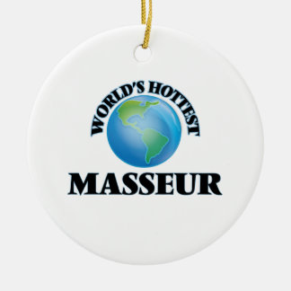 World's Hottest Masseur Christmas Tree Ornament
