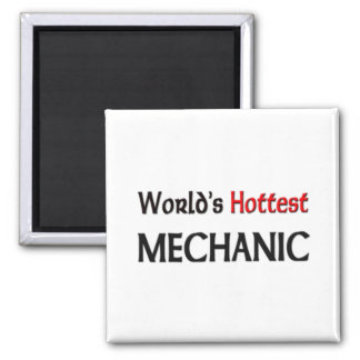 Worlds Hottest Mechanic 2 Inch Square Magnet