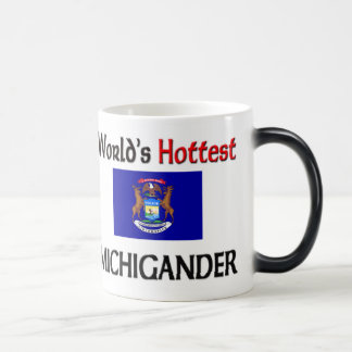 World's Hottest Michigander 11 Oz Magic Heat Color-Changing Coffee Mug