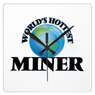 World's Hottest Miner Wall Clocks