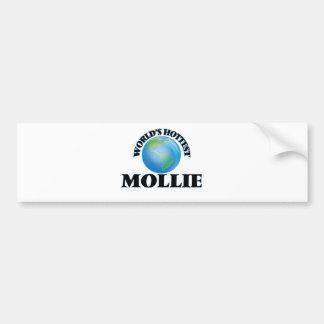 World's Hottest Mollie Car Bumper Sticker