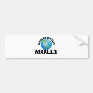 World's Hottest Molly Car Bumper Sticker