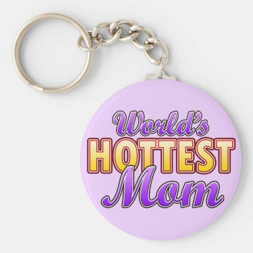 World's Hottest Mom Keychain