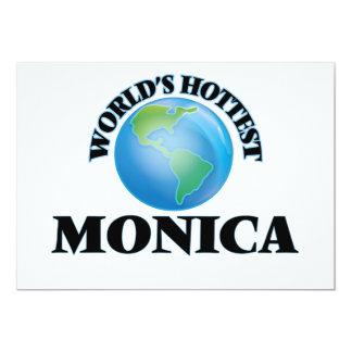 World's Hottest Monica 5x7 Paper Invitation Card