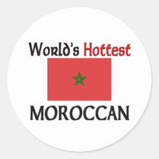 World's Hottest Moroccan Classic Round Sticker