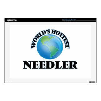 "World's Hottest Needler 17"" Laptop Skins"