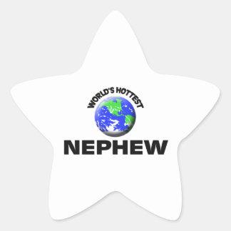 World's Hottest Nephew Star Sticker