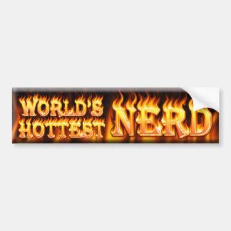 worlds hottest nerd bumper sticker