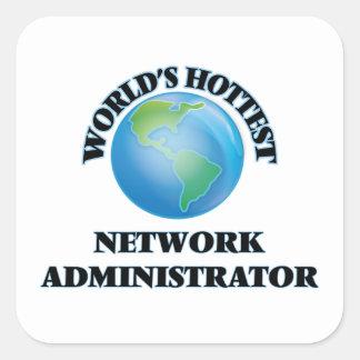 World's Hottest Network Administrator Square Sticker