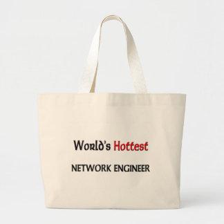 Worlds Hottest Network Engineer Large Tote Bag