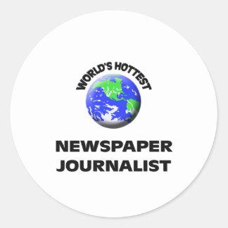 World's Hottest Newspaper Journalist Stickers