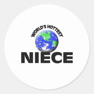 World's Hottest Niece Classic Round Sticker