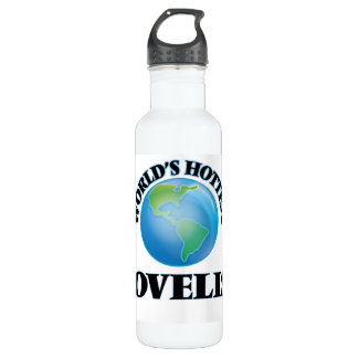 World's Hottest Novelist 24oz Water Bottle