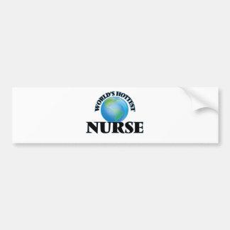 World's Hottest Nurse Bumper Stickers
