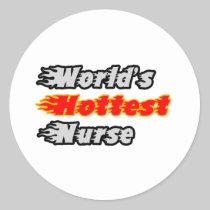 World's Hottest Nurse Round Sticker