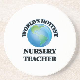 World's Hottest Nursery Teacher Drink Coasters
